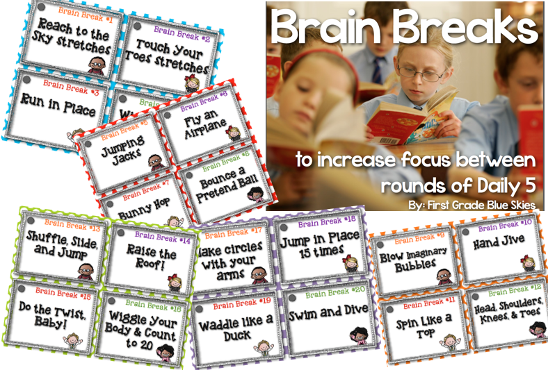 http://www.teacherspayteachers.com/Product/The-Daily-Five-Brain-Breaks-1267920