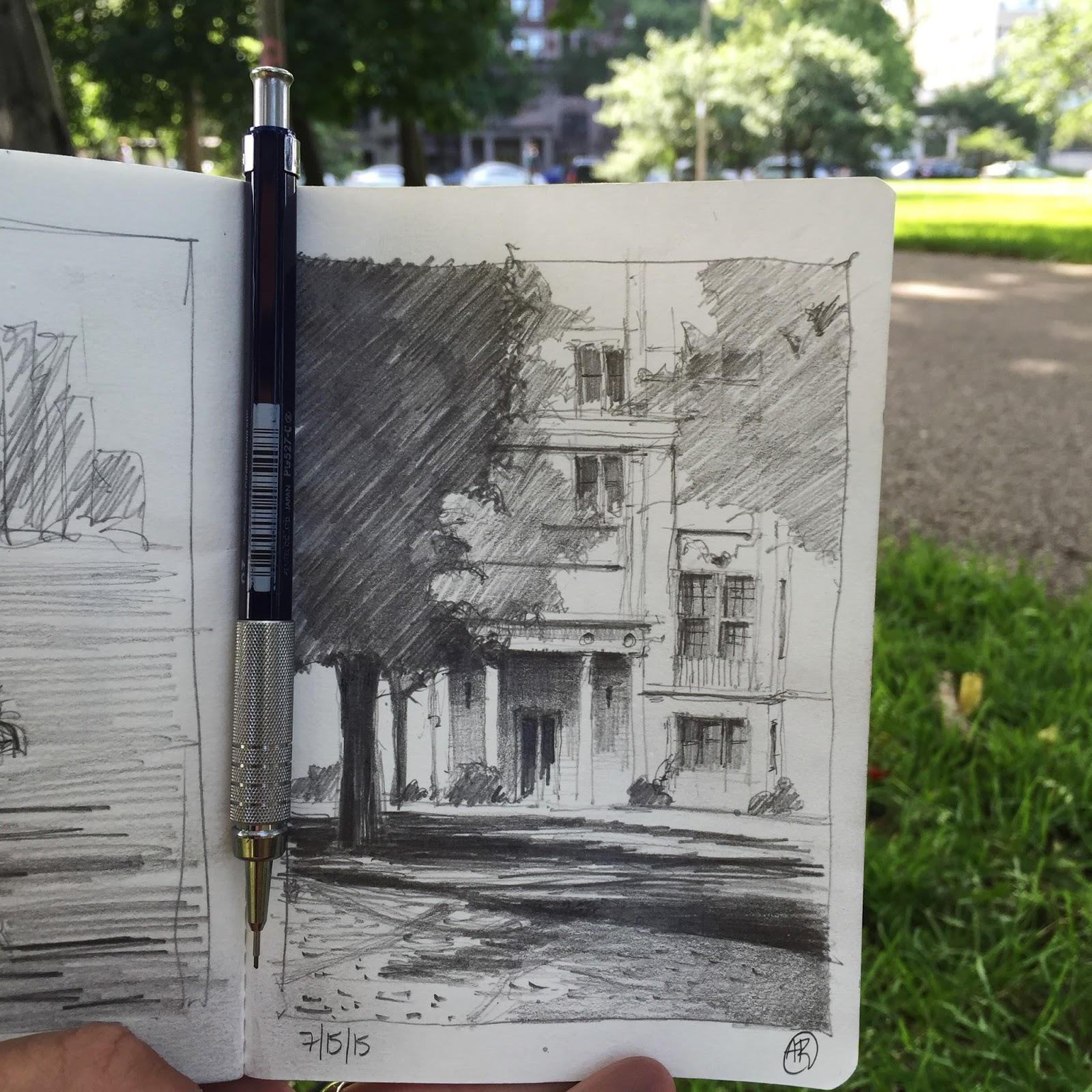 Urban sketchers chicago august 2015