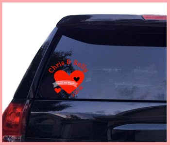 Couple Hearts Car Decal