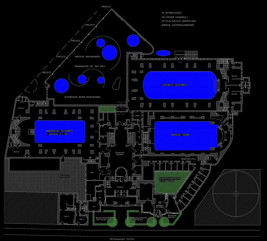 Planungskonzeption des Erdgeschossgrundriss