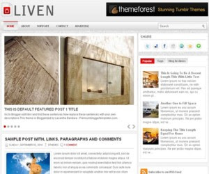 Liven Blogger Template