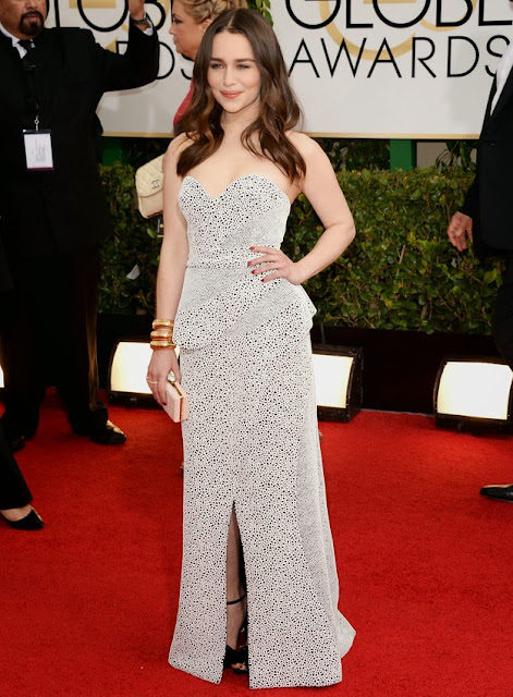 Emilia Clarke in Proenza Schouler at the Golden Globes