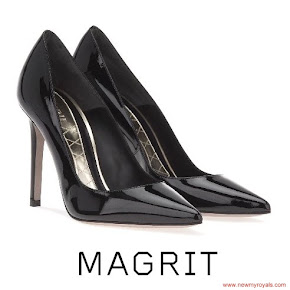 Queen Letizia Style MAGRIT Balack Leather Pumps