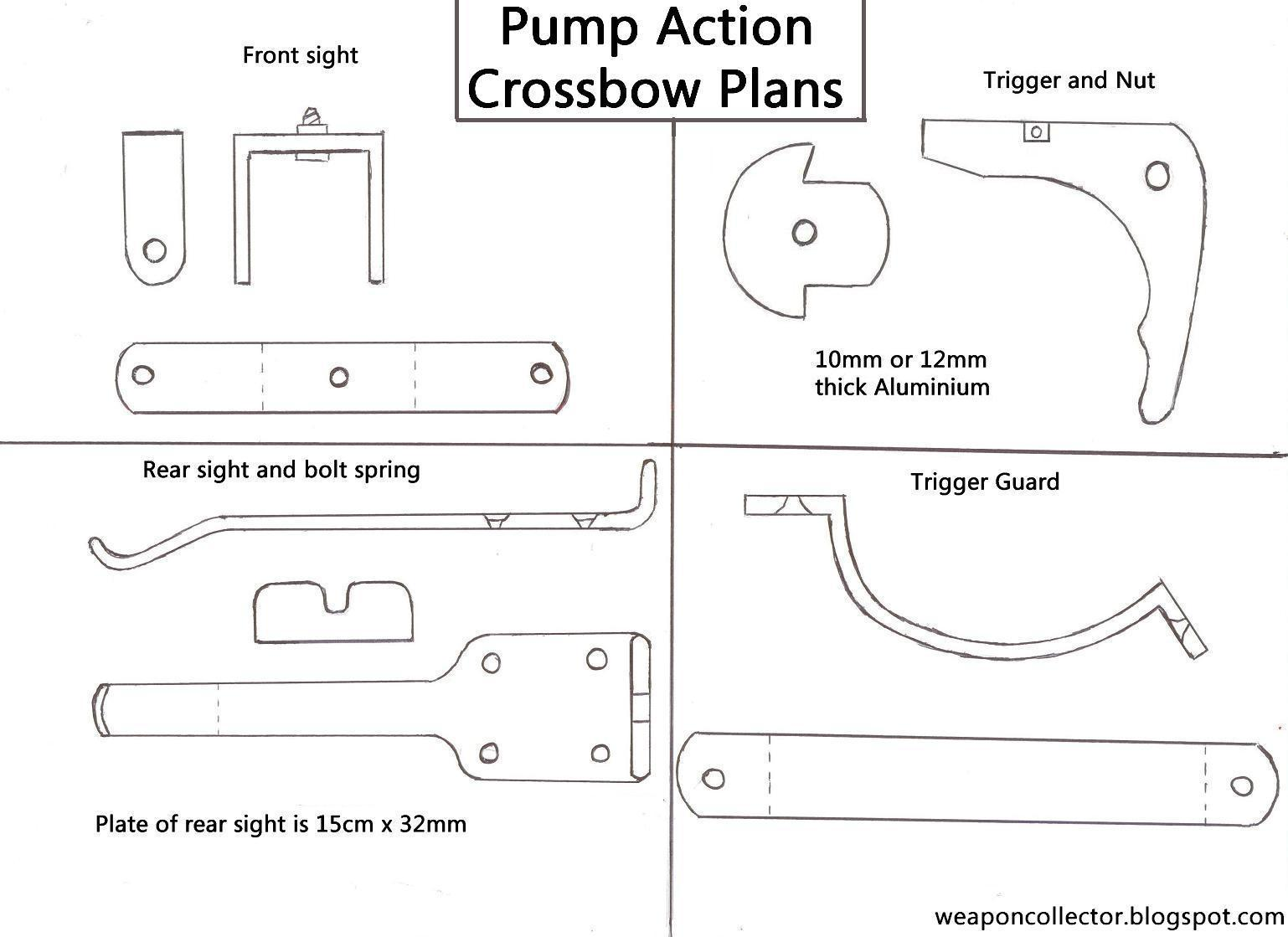 Pump Action Crossbow Plans