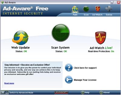 Download Antivirus Terbaik dan terbaru dari lavasoft Ad-Aware 2012