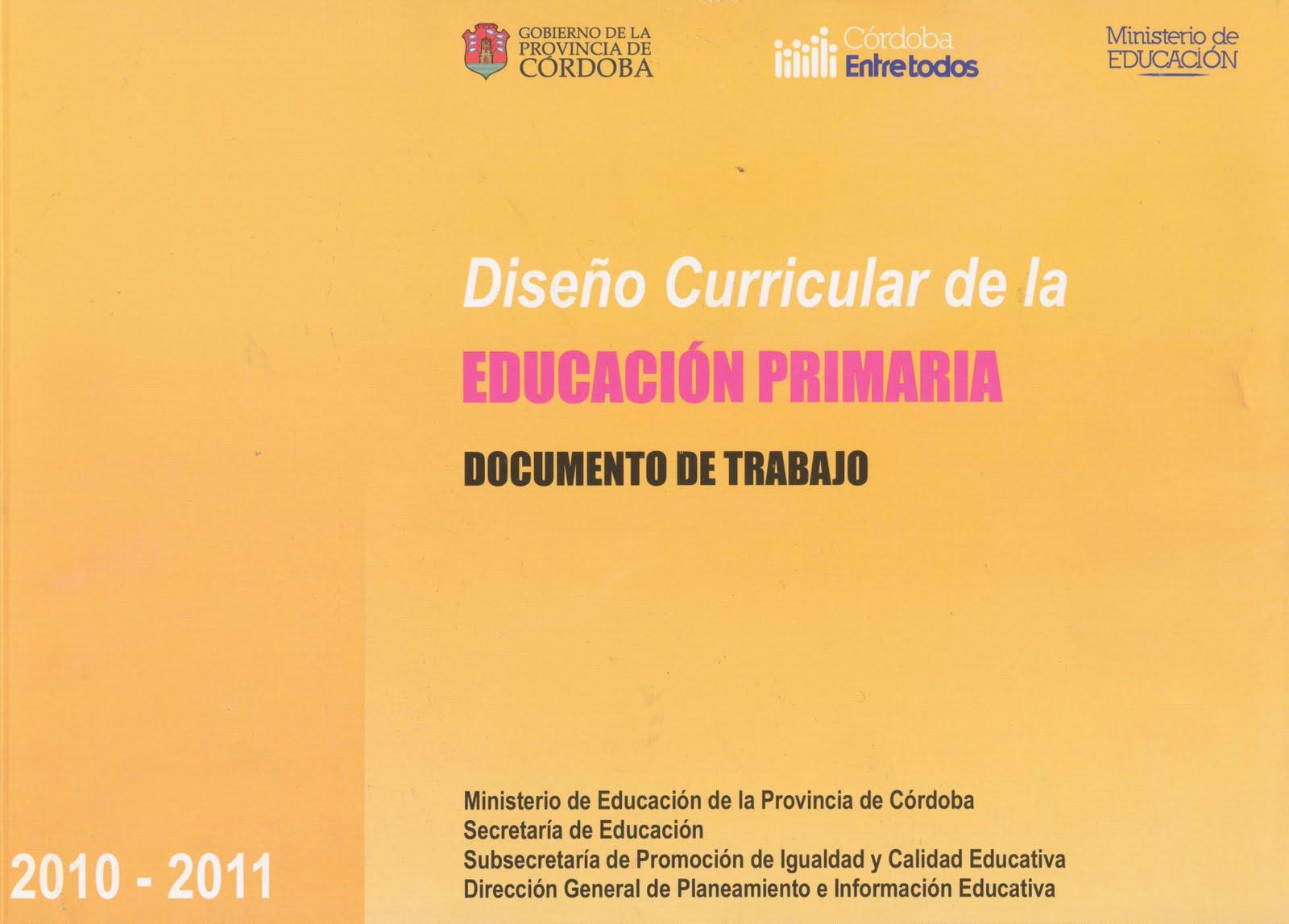 Plan provincial de lectura dise o curricular de la for Diseno curricular primaria