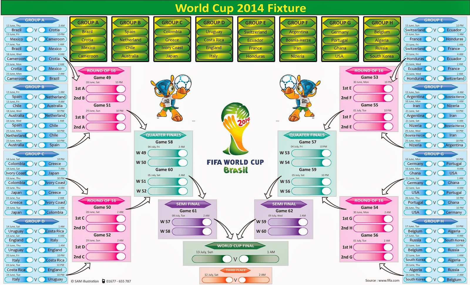 world cup 2014 schedule and live hd mominuls blog