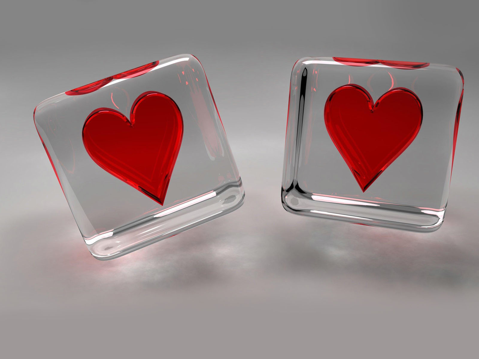 wallpapers  glass heart wallpapers
