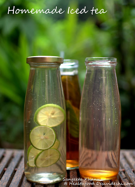 home made 'real' iced teas   basic recipe of Iced tea   staying away from synthetic flavoured iced teas