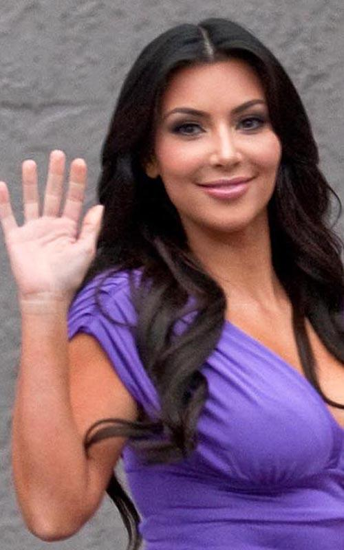 Kim Kardashian In A Purple Tight Dress Kim-Kardashian-3