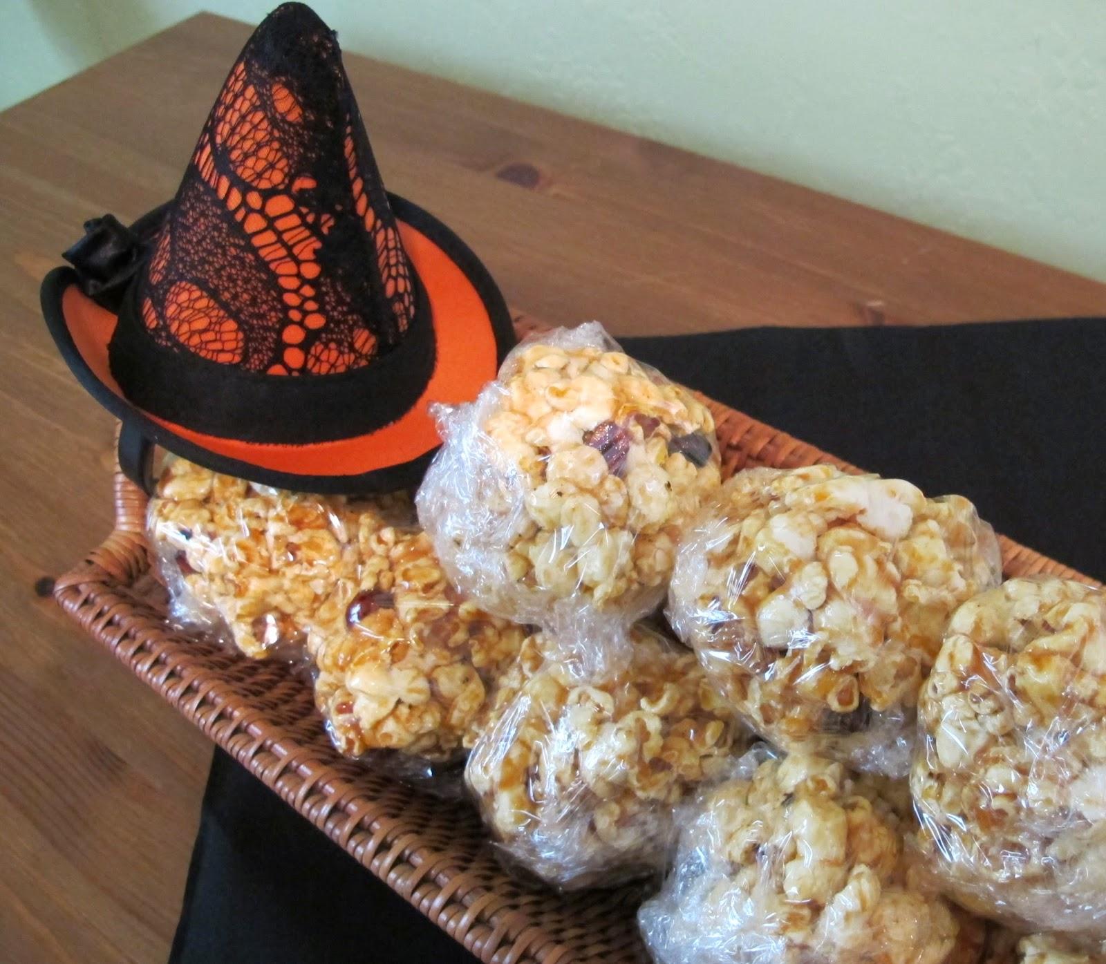 Sriracha Popcorn Balls for Halloween