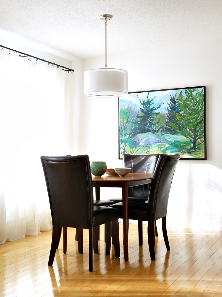 Large scale art in the dining room dans le lakehouse for Dining room paintings