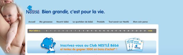 Nestlé: 300€ de bons d'achat à gagner