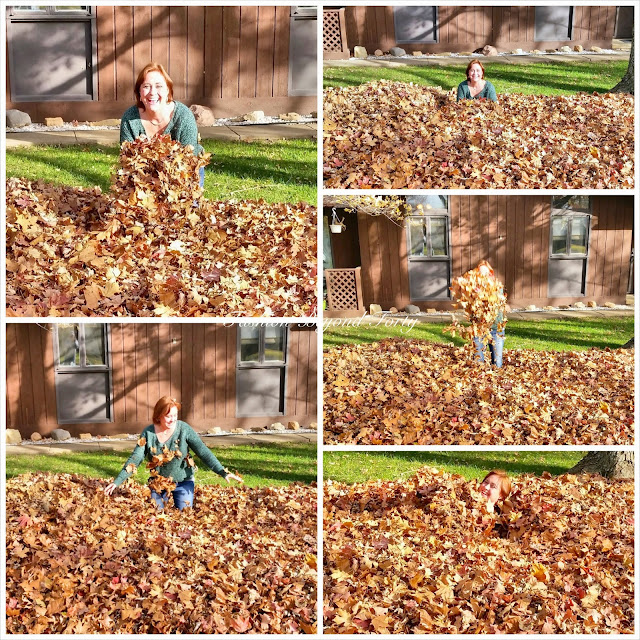 Happiness Is ... Playing in the Autumn Leaves