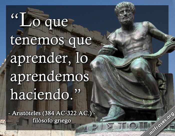 frases de Aristóteles 384 AC-322 AC. Filósofo griego.