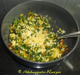 add methi and moong dal