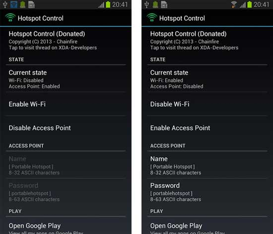 Hotspot Cotrol For Android