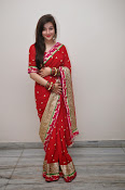 Priyal Gor Dazzling in Red Saree-thumbnail-16