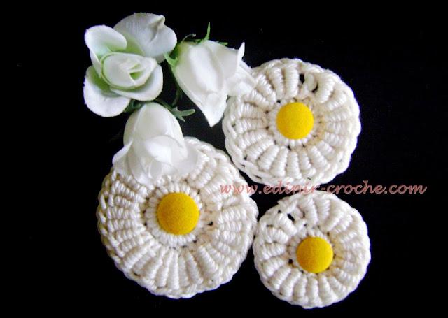 flores em crochê fuxicos dvd flores em croche 1 frete gratis com edinir-croche