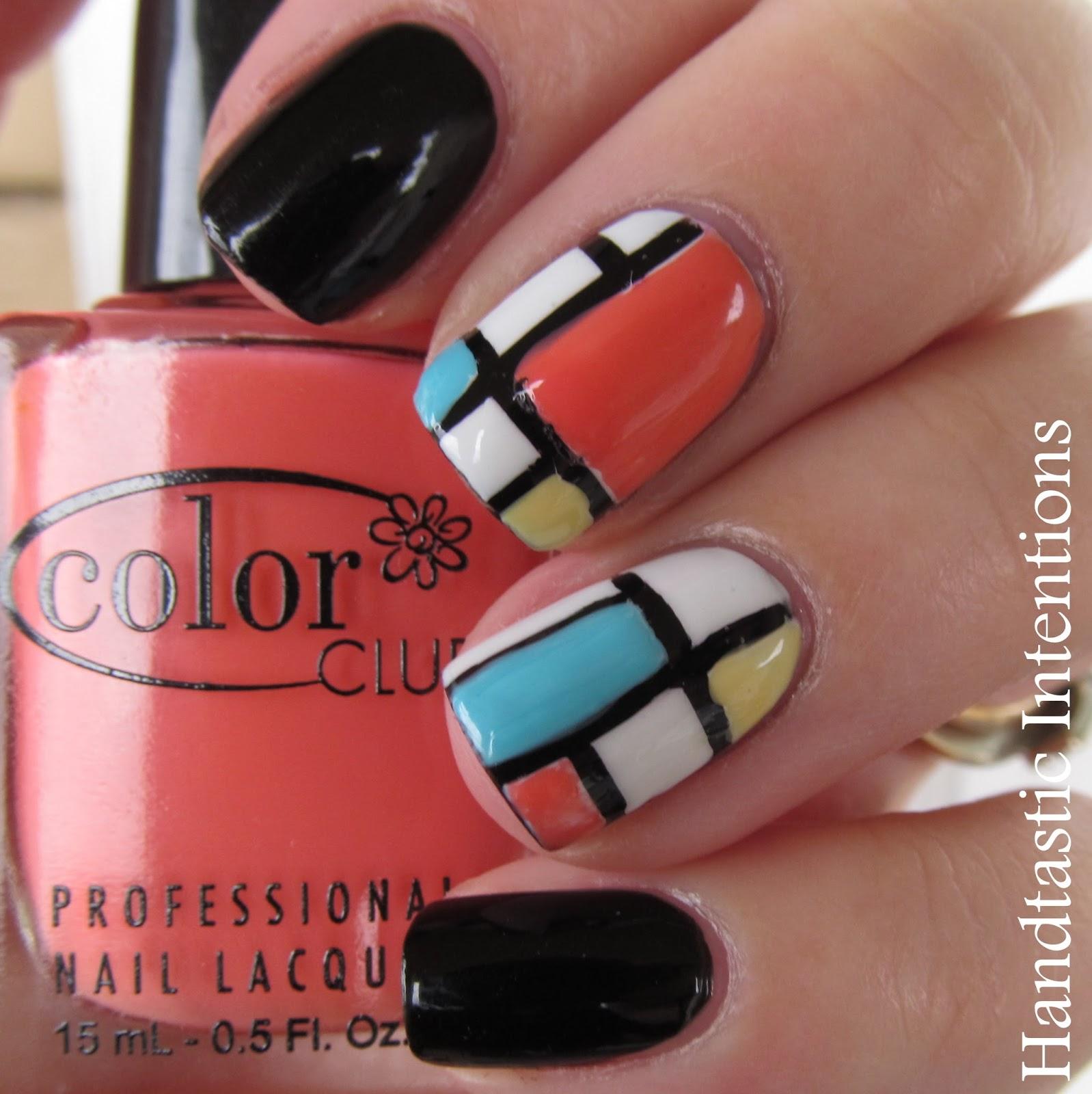 Handtastic Intentions: Nail Art: Mondrian Inspired