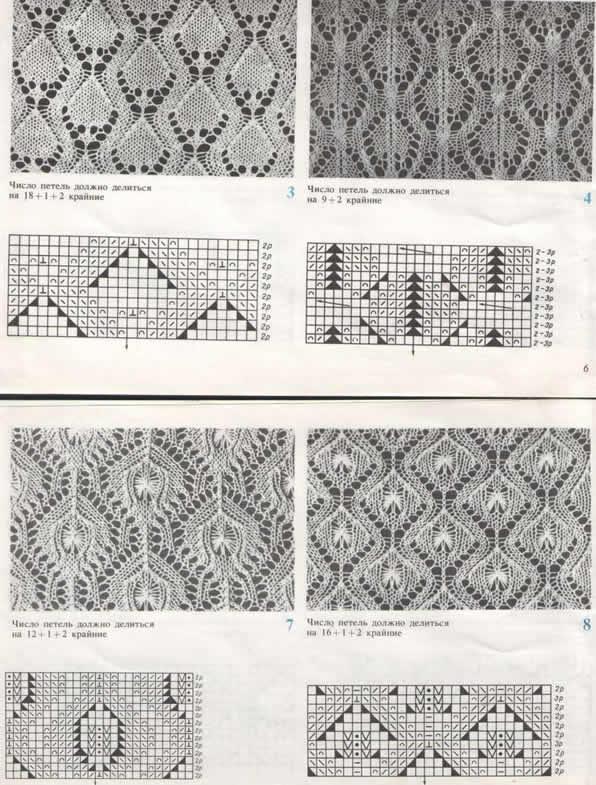 Ажурные рисунки для жилетки