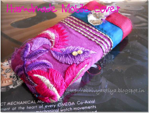 how to made hand made mobile cover