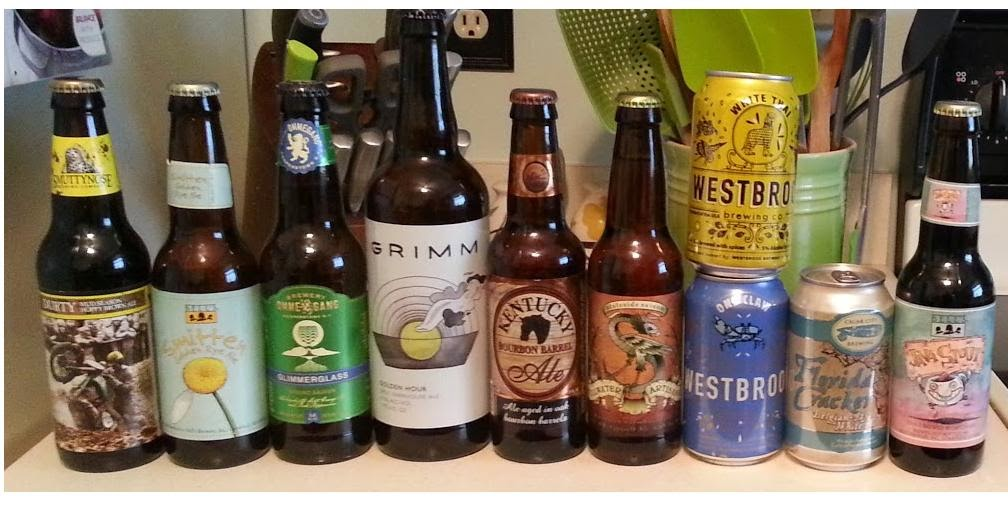 Beer Haul, Growler and Gill, Smuttynose, Bell's, Ommegang, Grimm, Kentucky, Stillwater, Westbrook, Cigar City