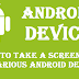 How to Create a screenshot in an Android device