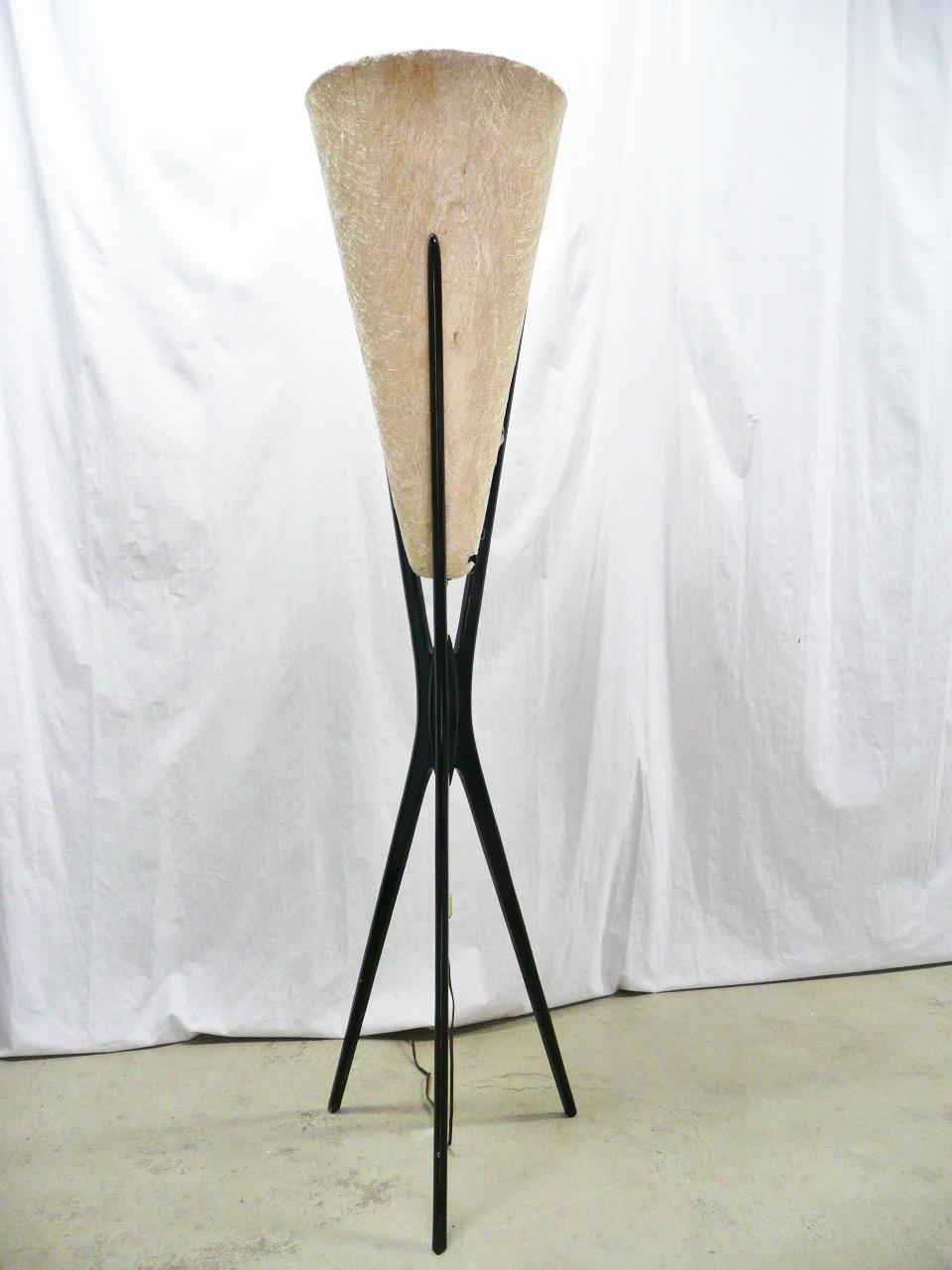 Modern Modeline Tripod Fiberglass Shade Floor Lamp For Sale On
