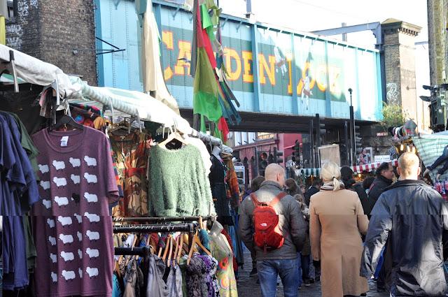 Camden Town Market clothing stalls