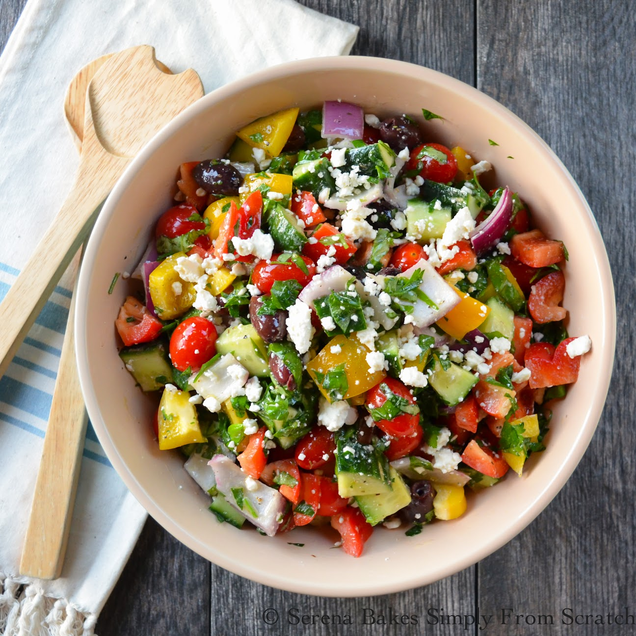 Greek Salad a summer time favorite.