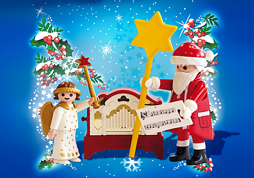 4889_Pequeño-Ángel-y-Papá-Noel-con-órgano