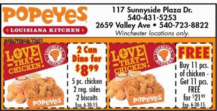 Popeyes Coupons Buy 11 Get 11 Free February, For printable coupons only, enter link to printable pdf or image of coupon.