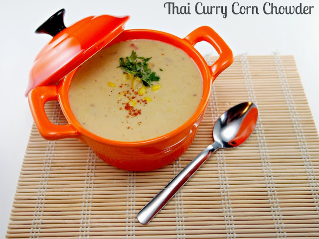 Thai style curry corn chowder
