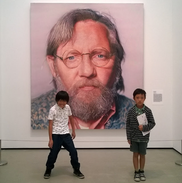 Chuck Close at The Broad Museum Los Angeles