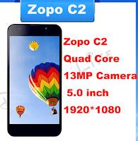 ZOPO C2, Smartphone Aliyun Berdesign Tipis Dengan Spesifikasi Gahar