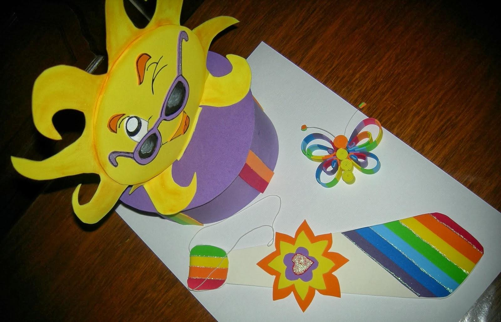 Arte Gabrielle  DISFRAZ PRIMAVERAL - Sombrero y Corbata multicolor ... 5e69f669c84