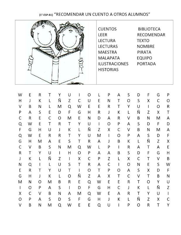 Sopa de letras del cuento