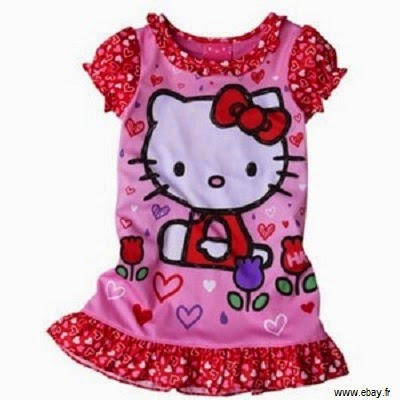 Robe bébé fille hello kitty