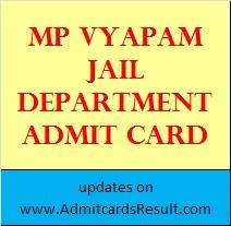 Vyapam Jail Prahari Admit card