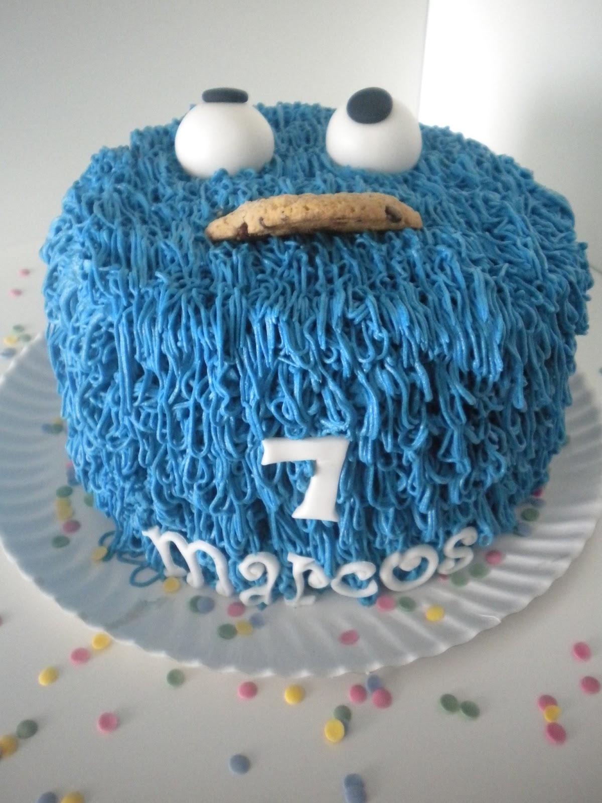 Dulces para un Angel: TARTA MARCOS 7!!! El monstruo de las galletas