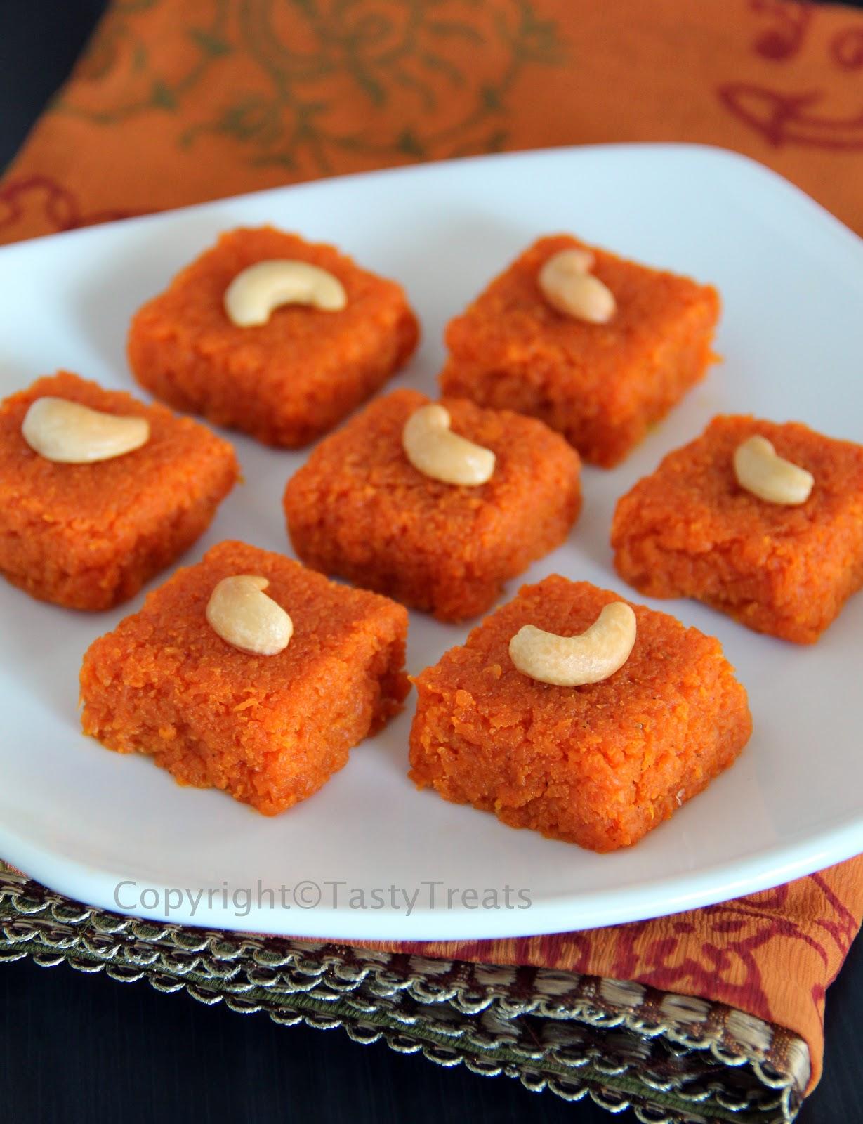 Tasty Treats Gajar Carrot Burfi