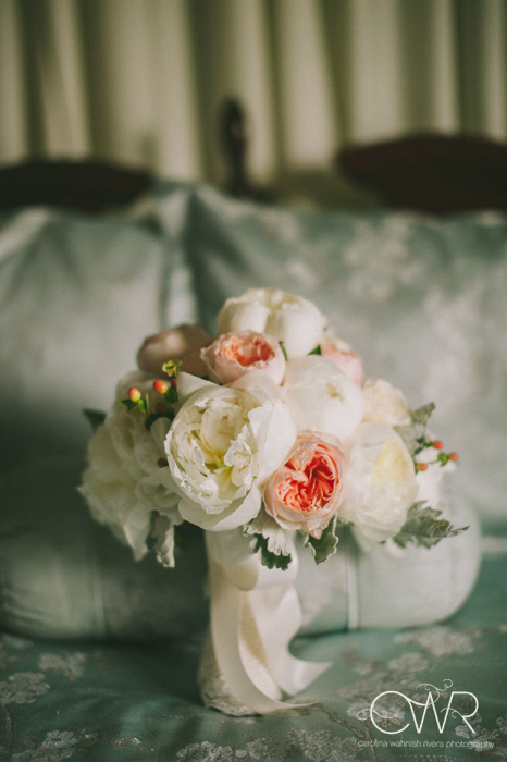 Soft and Romantic Bouquet - Filled with fluffy white peonies, hydrangea, Juliet roses, Sahara roses, hypericum berry and dusty miller, Garden Rose Bouquet, David Austin Rose Bouquet, Juliet Garden Rose, Rose Bridal Bouquet, Rose Bouquet, Wedding Bouquet - Splendid Stems Wedding Flowers - Wedding Florist