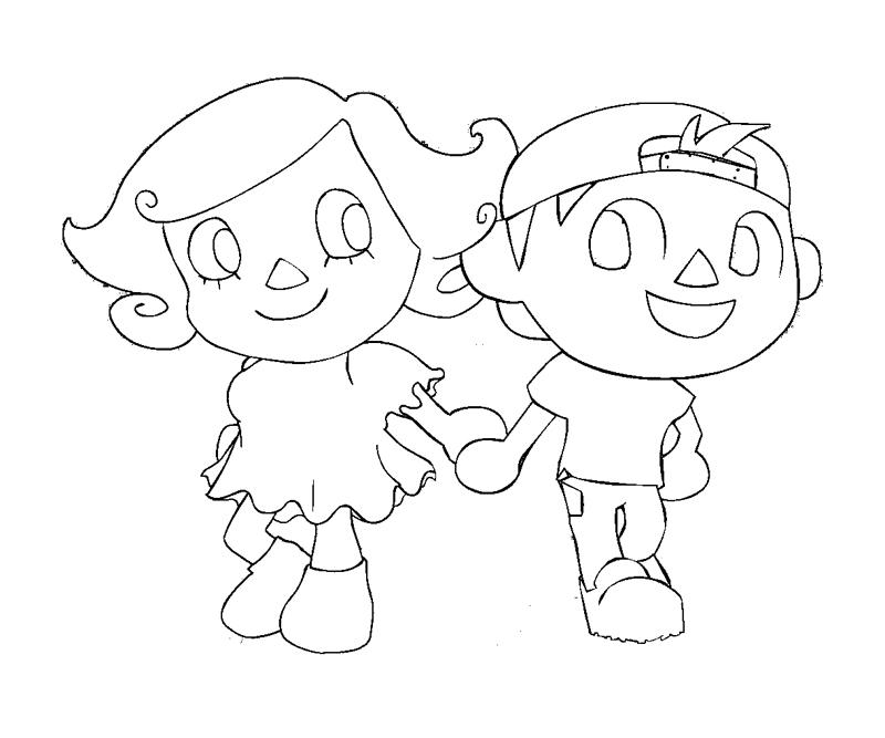 How To Draw Crossing Animal Crossing New Leaf Coloring Pages