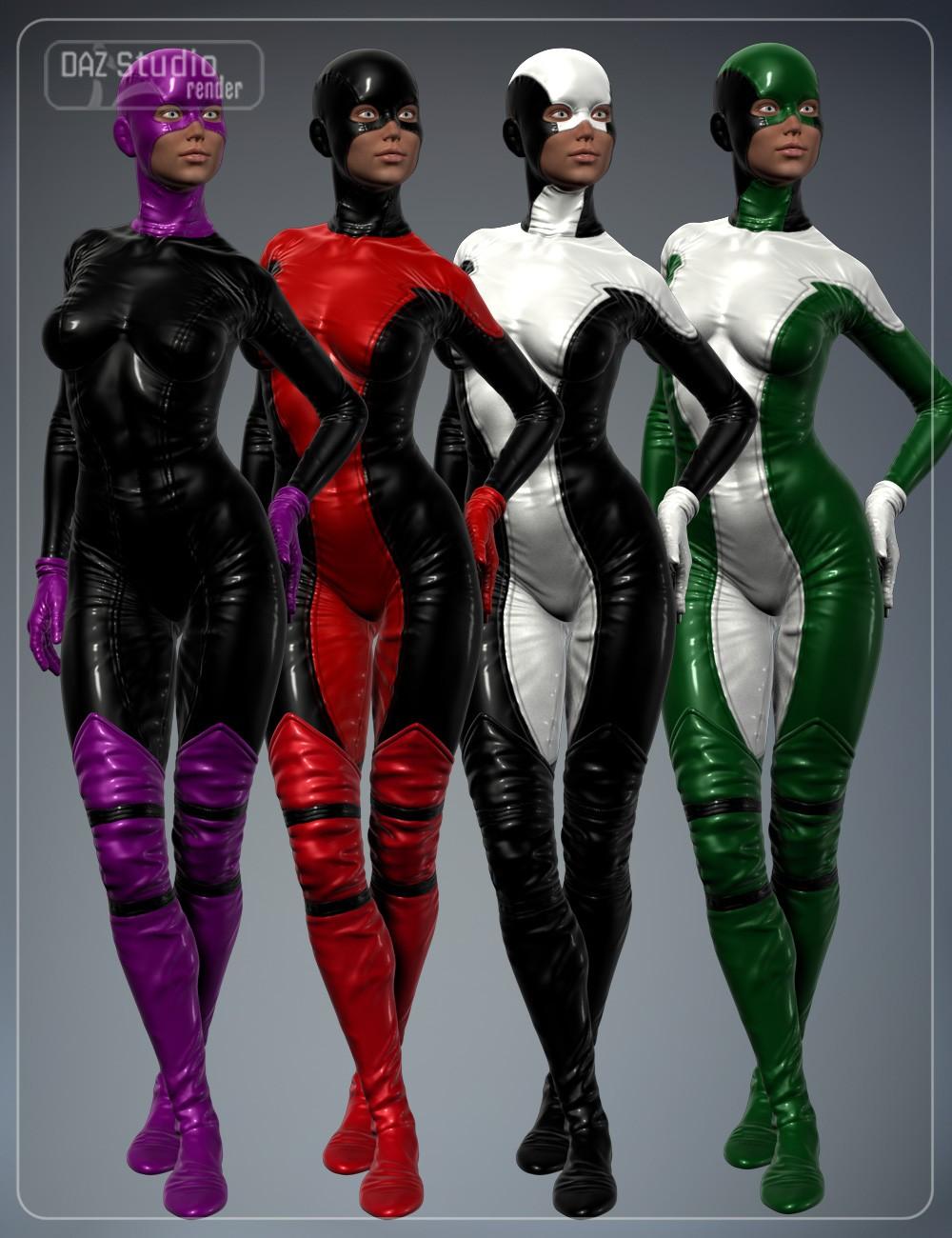 Super Hero Suit for Genesis 2 Female(s) and Victoria 6