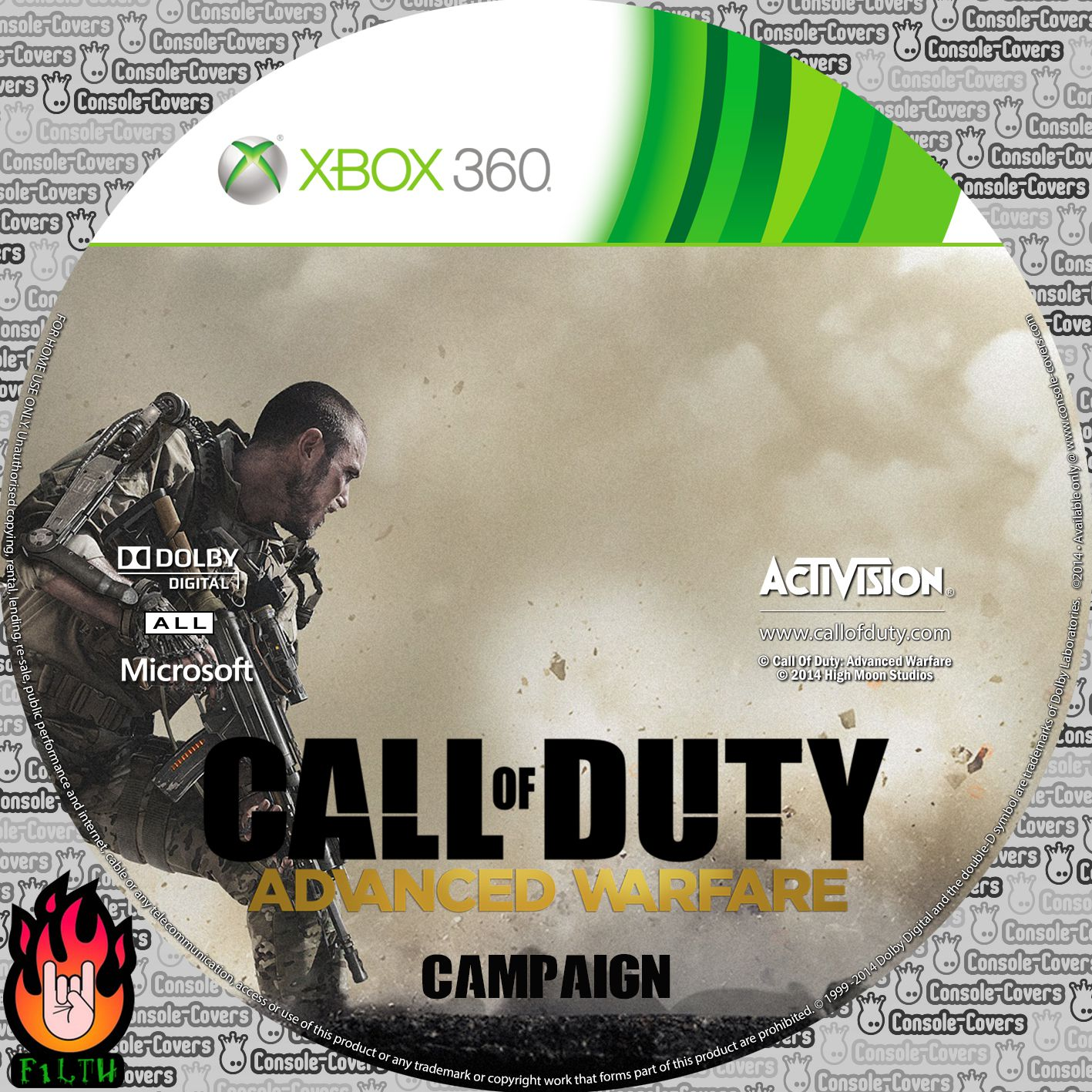 Label Call Of Duty Advanced Warfare Xbox 360
