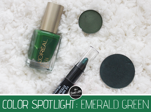 emerald forrest green makeup eyeshadow