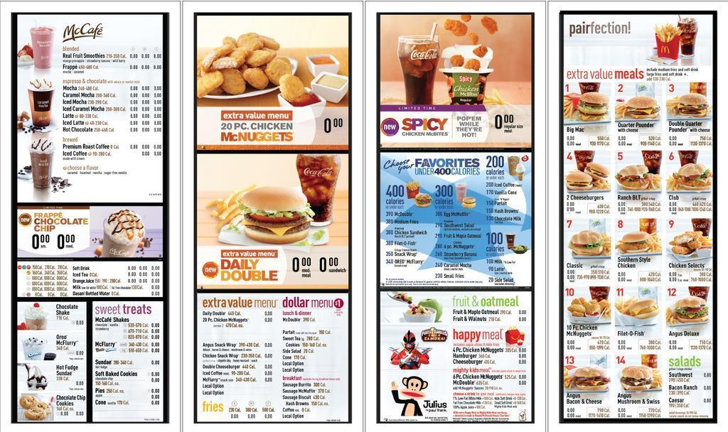 Mcdonalds Nutrition Information Now On The Menu Budget For Health