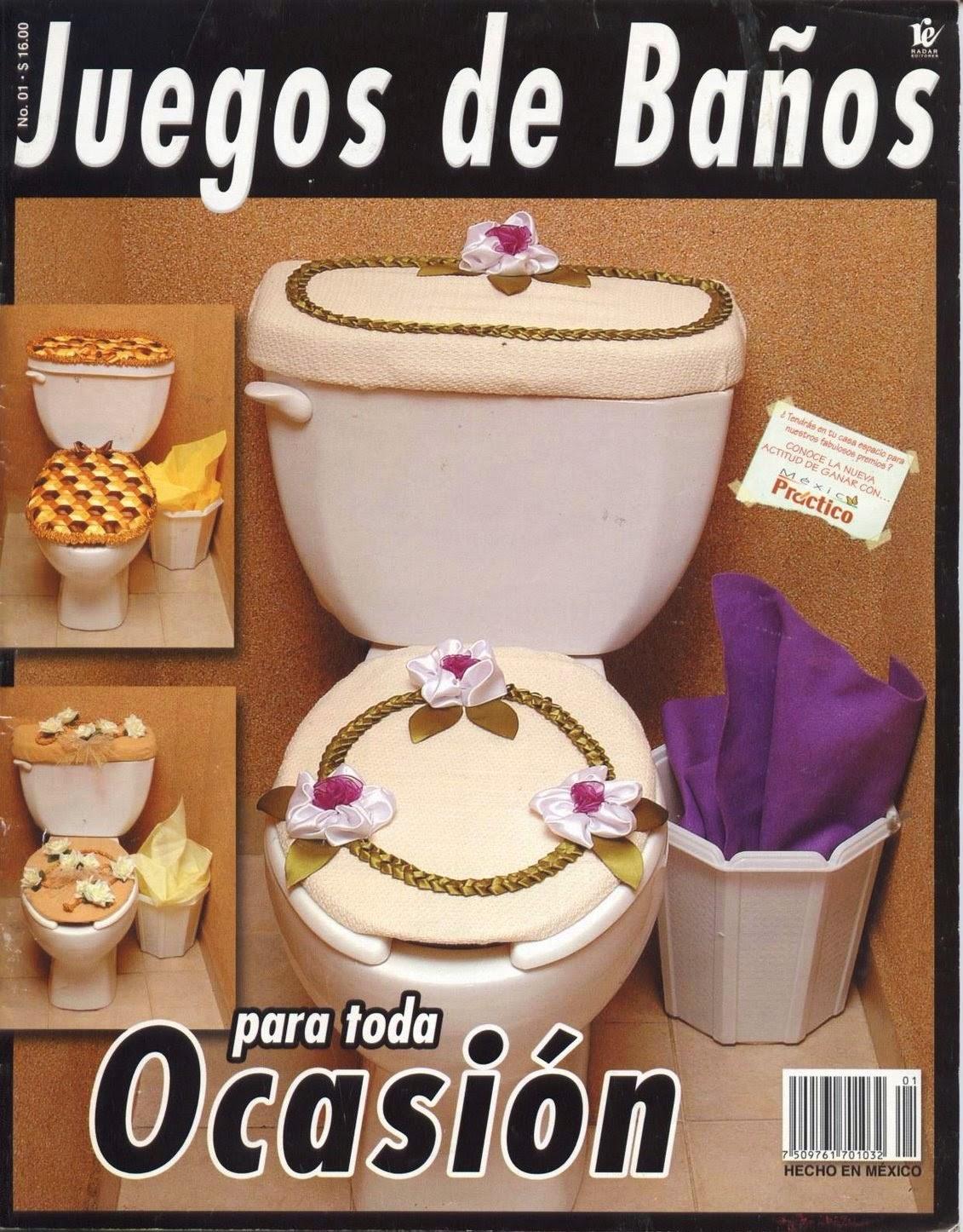 Lenceria De Baño En Crochet:Como hacer juegos de baño – Revistas de manualidades Gratis
