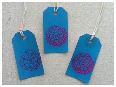 Miss Chaela Boo: Crafty Creatives Box 11 - Lace stamped tags